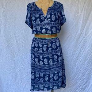 Velvet by Graham & Spencer Dress In Paisley Print